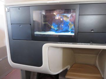 singapore airlines business class a380 entertainment monitor