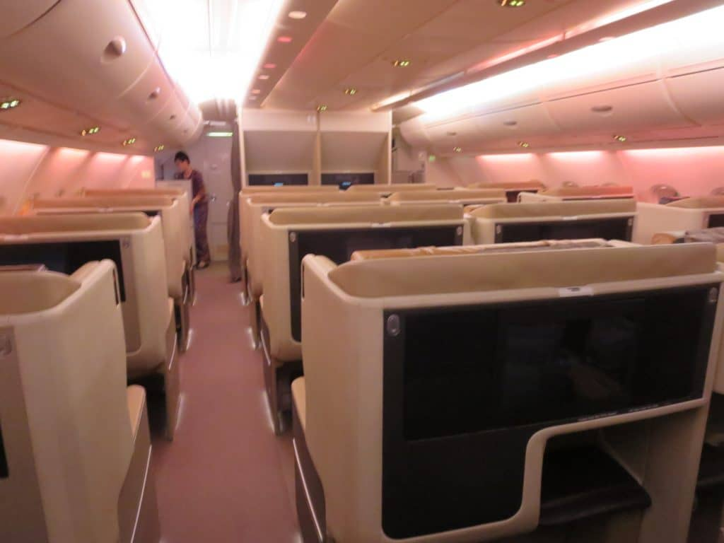 singapore airlines business class a380 kabine 1