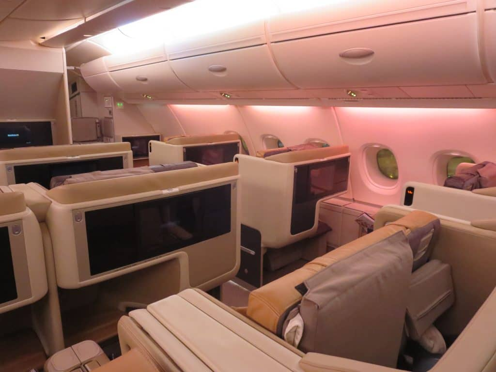 singapore airlines business class a380 kabine 2