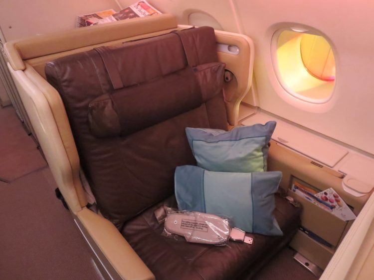 singapore airlines business class a380 sitz 1