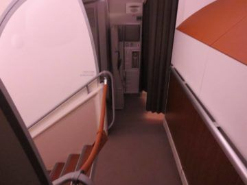 singapore airlines business class a380 treppe 1