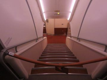 singapore airlines business class a380 treppe 2