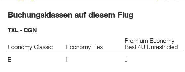 eurowings buchungsklassen bei buchung uber miles and more