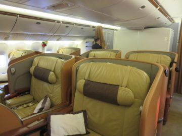 singapore airlines first class boeing 777 kabine 1