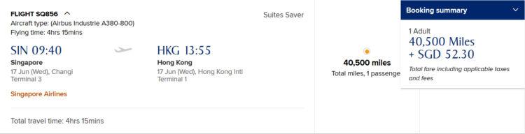 Krisflyer Praemienflug Singapore Airlines Suite Sin Hkg