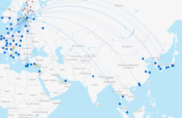 Finnair Ziele Asien April 2021