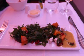 qatar airways business class a350 feta salat