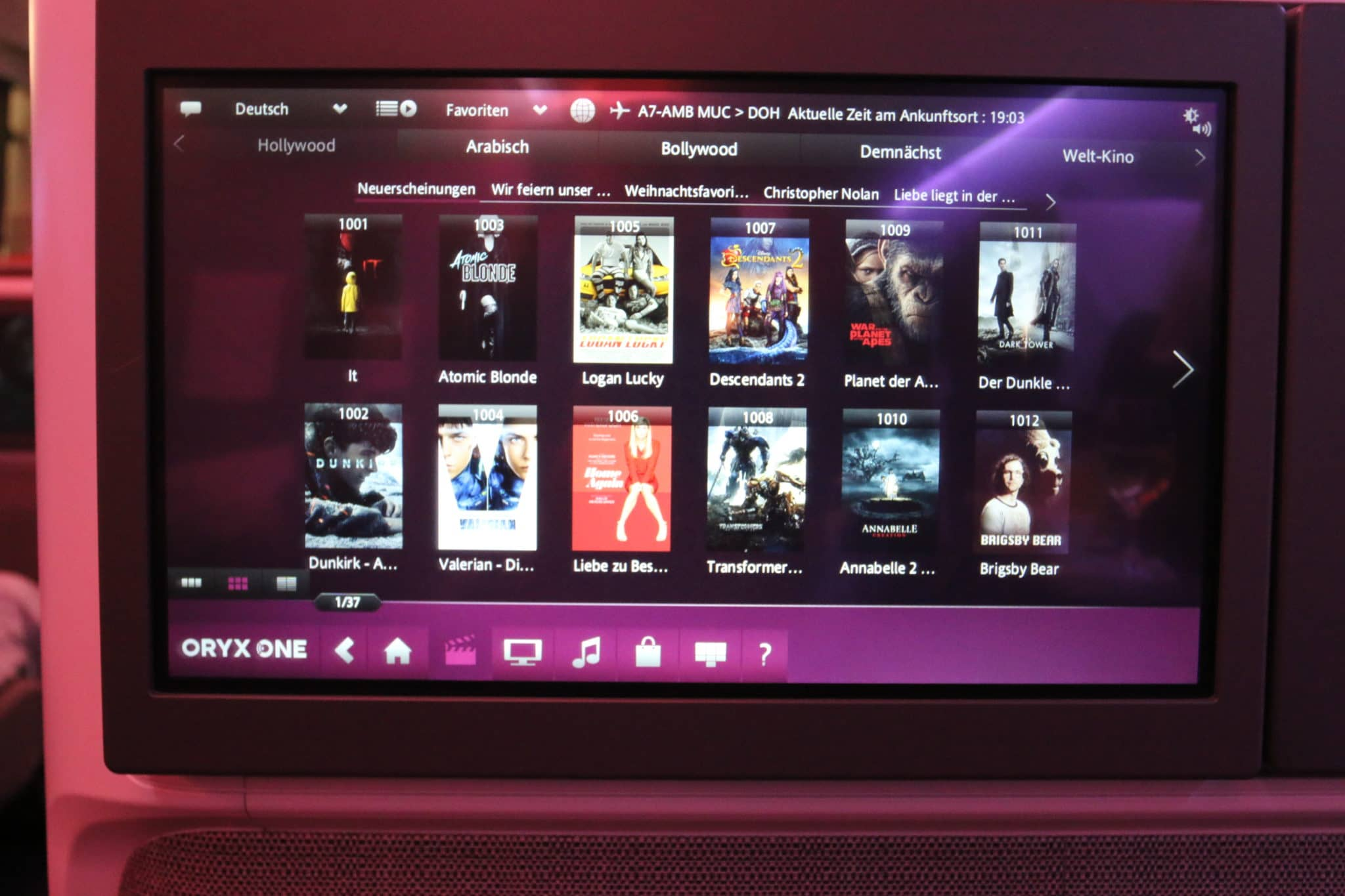 qatar airways business class a350 filmauswahl