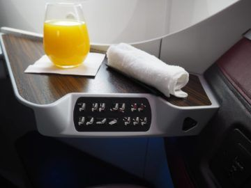 qatar airways business class b787 8 orangensaft