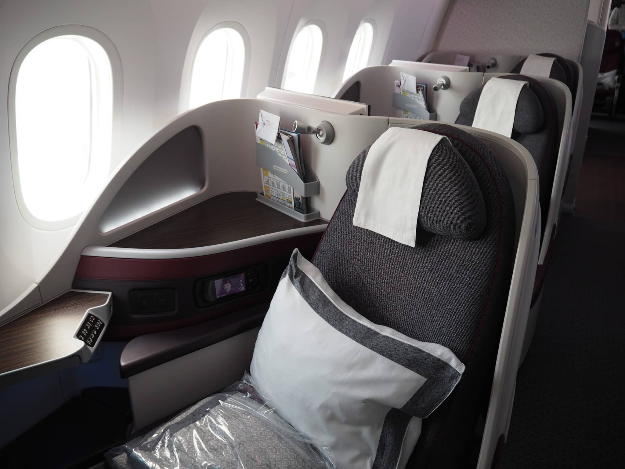 qatar airways business class b787 8 sitz