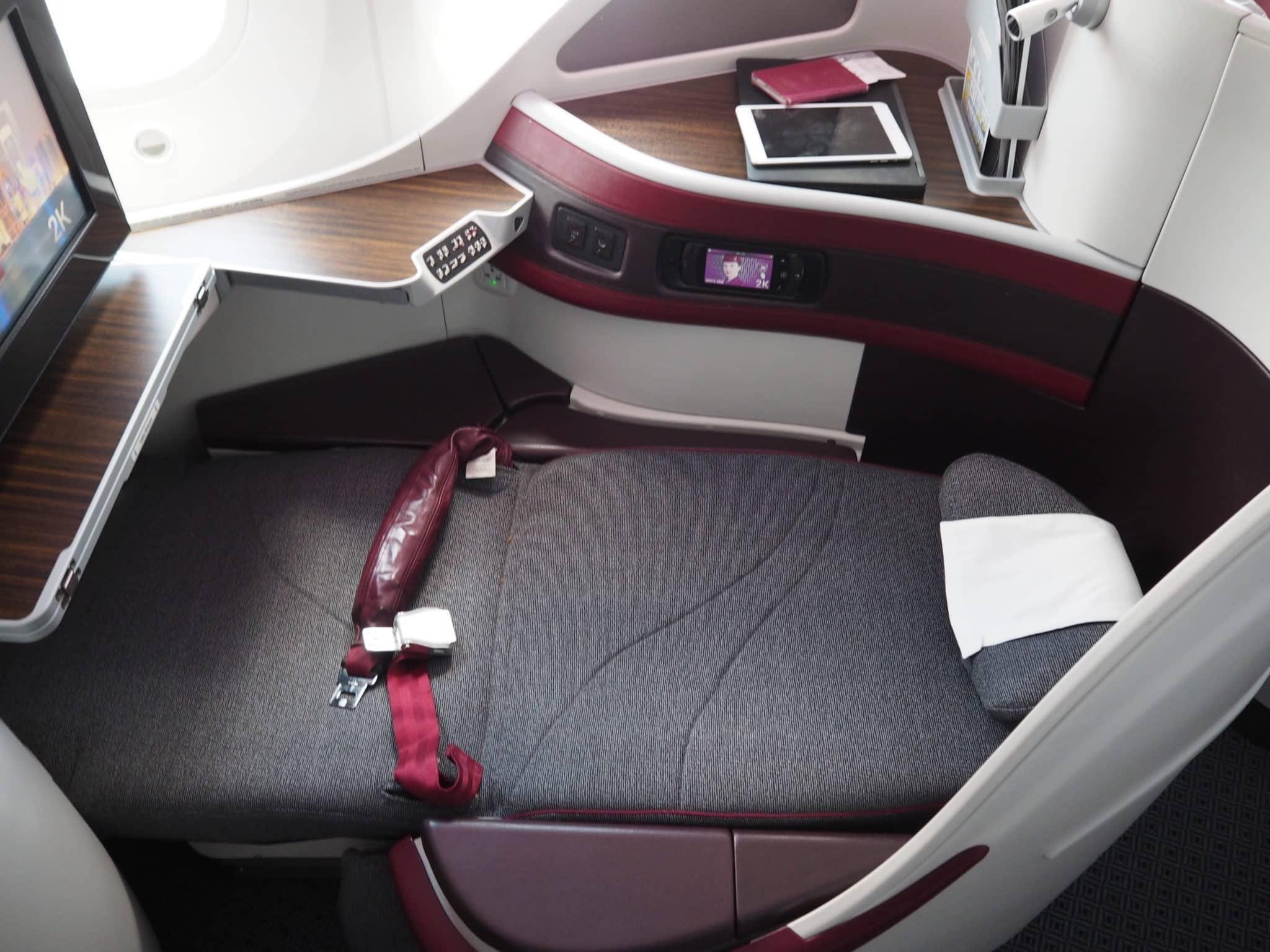 qatar airways business class b787 8 sitz lieflat