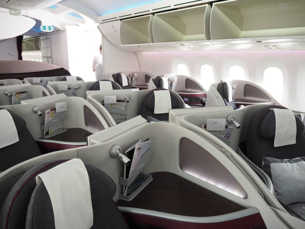 qatar airways business class b787 8 sitzordnung vorne