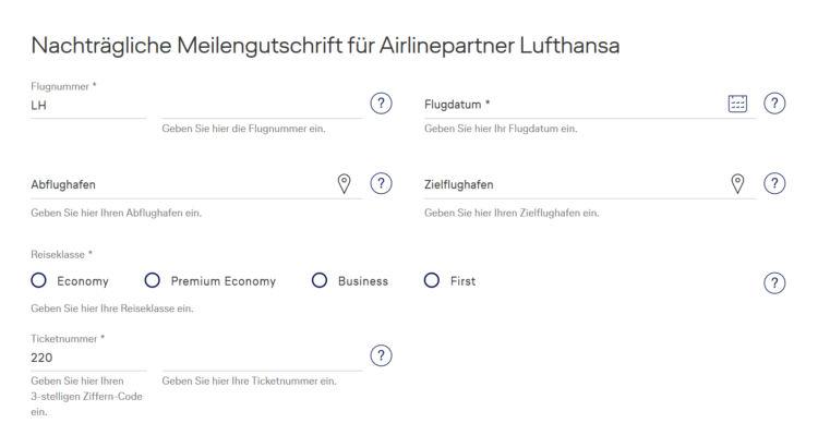 Miles And More Meilen Nachtragen Lufthansa Maske