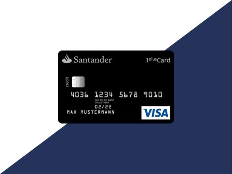 Santander 1plus Visa Card Kreditkarte Beitragsbild