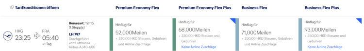 Miles And More Praemienflug Lufthansa Business Class Hongkong Frankfurt