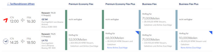 Miles And More Praemienflug Lufthansa Business Class Seoul Frankfurt