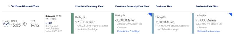 Miles And More Praemienflug Lufthansa Business Class Tokio Frankfurt
