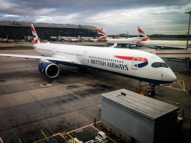 british airways airbus a350 flugzeug london heathrow 2