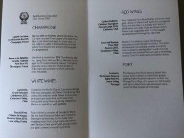 british airways business class boeing 747 champagne weine