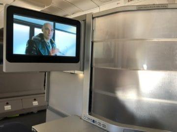 british airways business class boeing 747 monitor sichtschutz