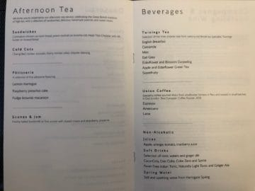 british airways first class boeing 777 afternoon tea