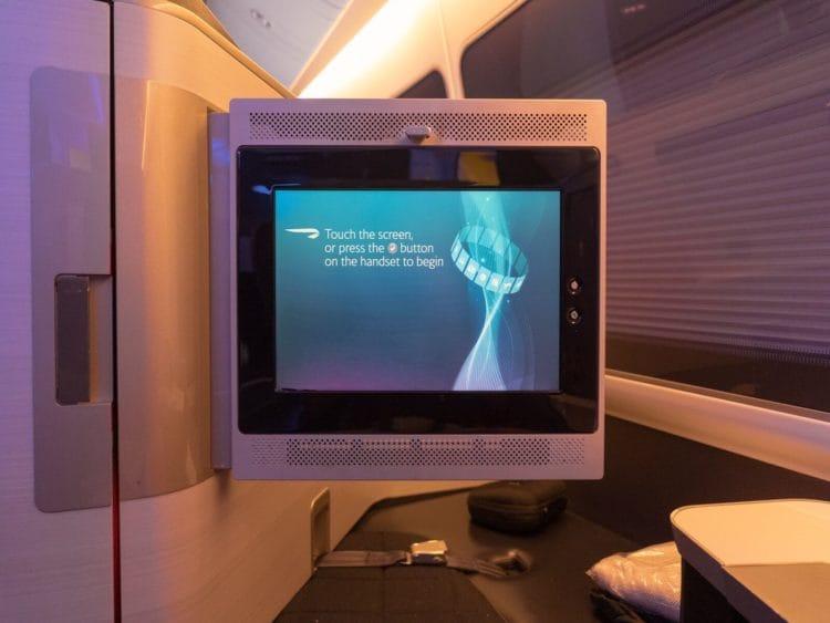 British Airways First Class Boeing 777 Monitor