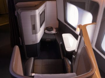 british airways first class boeing 777 sitz hinten