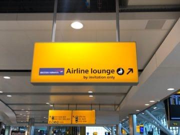 british airways galleries club lounge london heathrow terminal 5 b gates wegweiser nach oben