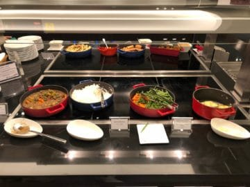 british airways lounge singapore warme speisen