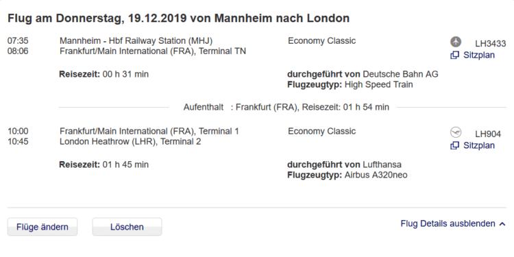 lufthansa express rail von mannheim nach frankfurt