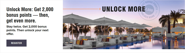 Marriott Bonvoy Unlock Promotion Übersicht