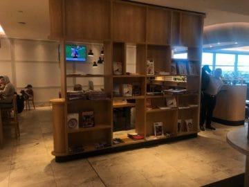 qantas business lounge brisbane auswahl zeitschriften