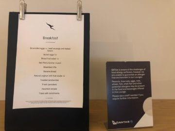 qantas business lounge brisbane fruehstuecksmenue