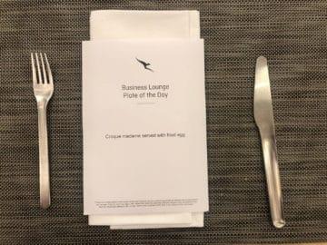 qantas business lounge brisbane menuekarte zum bestellen