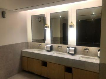 qantas business lounge brisbane waschbecken toilette