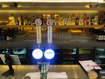 qantas lounge singapore auswahl bier