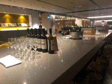 qantas lounge singapore auswahl weine