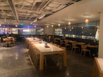 qantas lounge singapore buffet bereich