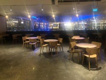 qantas lounge singapore esstische buffetbereich