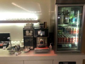 qantas lounge singapore kaffemaschine softgetraenke