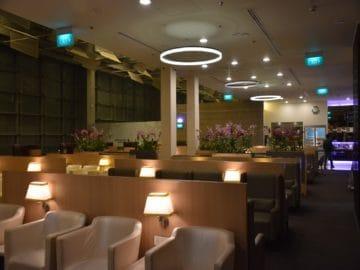 sats premier lounge singapur terminal 3 blick vom hinteren teil