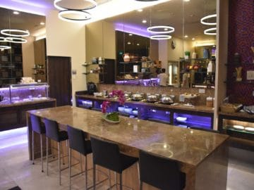 sats premier lounge singapur terminal 3 buffetbereich