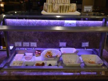 sats premier lounge singapur terminal 3 kalte speisen