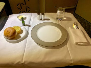 singapore airlines suites class 380 800 abendessen 1