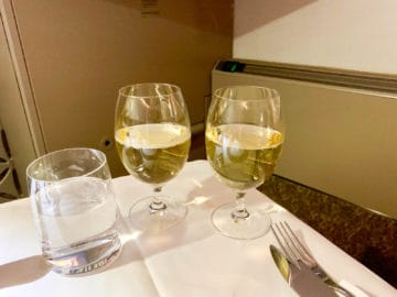 singapore airlines suites class 380 800 abendessen 4