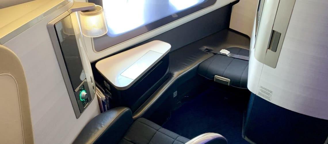 slider british airways first class