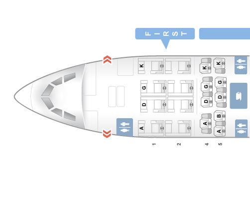 Swiss First Class A340 300-Seatmap © Seatguru