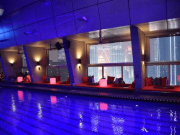 traders hotel kuala lumpur pool night