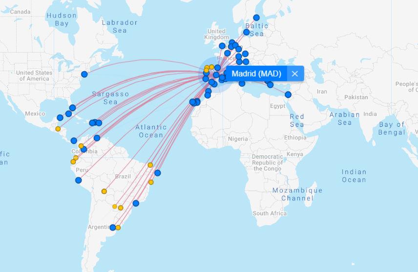 IAG übernimmt Air Europa und somit diese Ziele ab Madrid