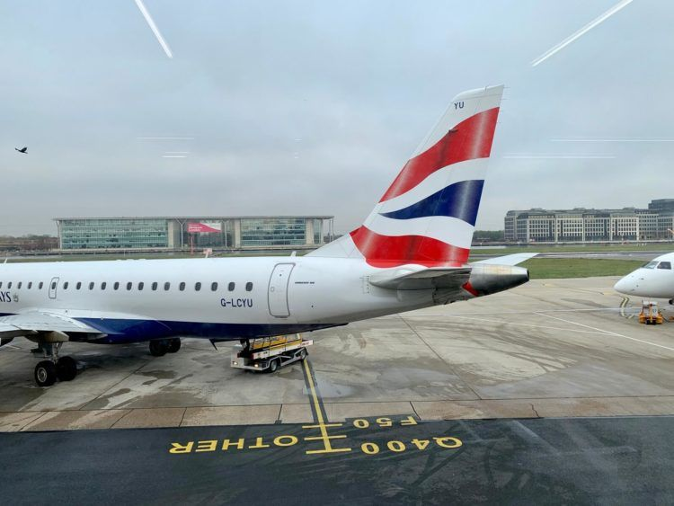 british airways embraer 190 london city airport